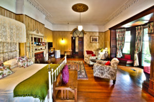 Large Family Suite with fireplace and private (exclusive use) bathroom across the hall