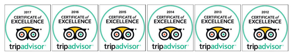 VACY HALL EARNS 6TH ANNUAL TRIPADVISOR CERTIFICATE OF EXCELLENCE